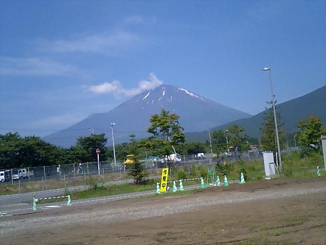今朝の富士スピードウエー