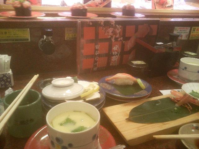 回転寿司中