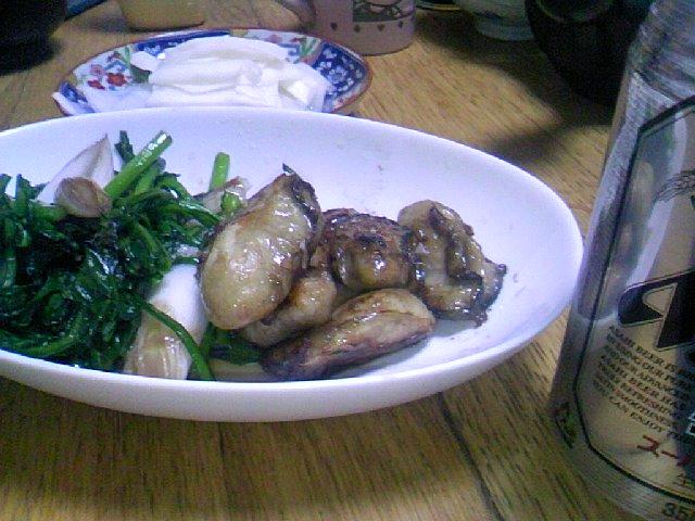 牡蠣 春菊 葱